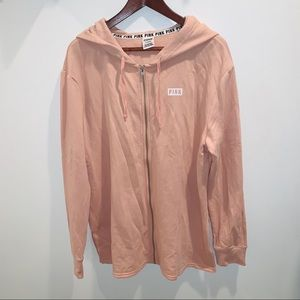 NWOT VS Pink Long Light Pink Hoodie